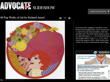 THE ADVOCATE mentions Amsel and the new site!