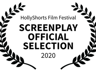 """""""Spruce Up the Holidays"""" official selection, HollyShorts Screenplay contest"""
