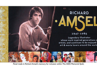 On World AIDS Day, Richard Amsel's new panel for the AIDS Memorial Quilt will be viewable to the
