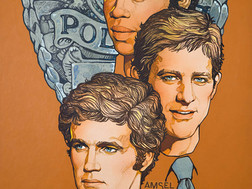 """Amsel's Lost Art: Unpublished TV GUIDE cover for """"THE ROOKIES"""""""