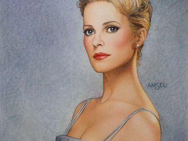 Amsel's original Cheryl Ladd artwork for TV GUIDE.