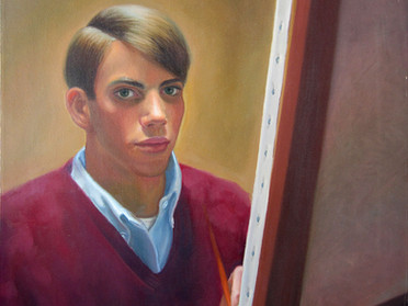 Self-portrait of the artist as a young man.
