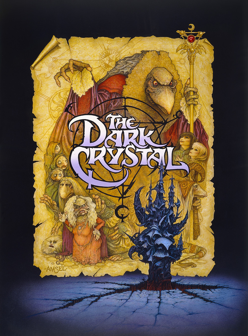 Amsel's poster for THE DARK CRYSTAL.