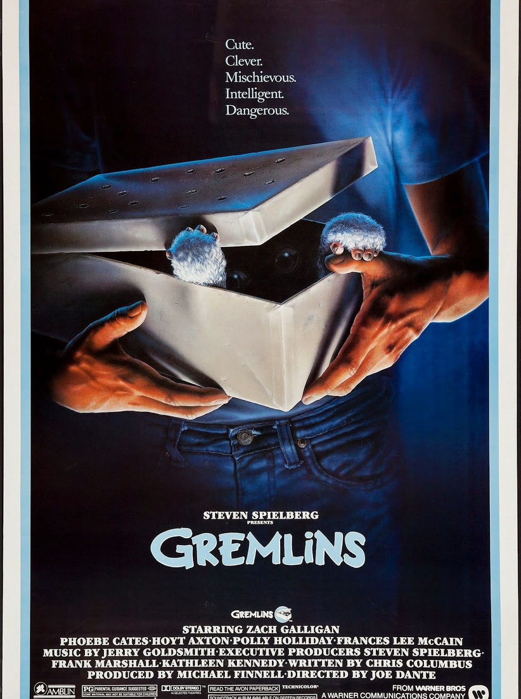 "GREMLINS -- a poster that shows Alvin's gift for ""teasing"" audiences by only showing so much..."