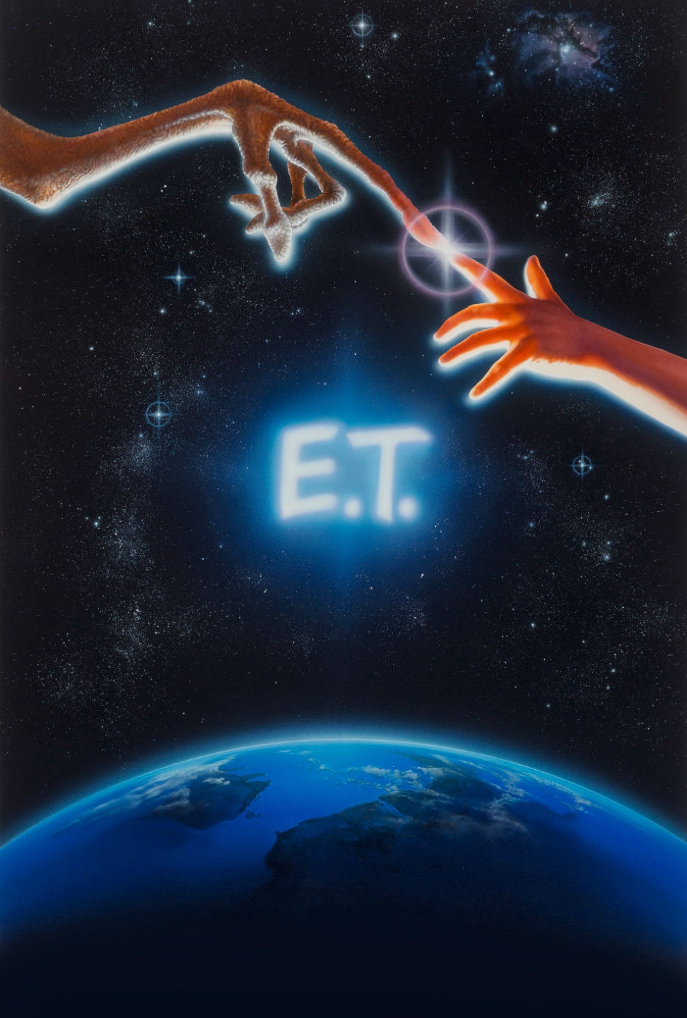 "The iconic poster for E.T. was inspired by Michelangelo's ""Creation of Man"". Alvin's daughter modeled for Elliott's arm."