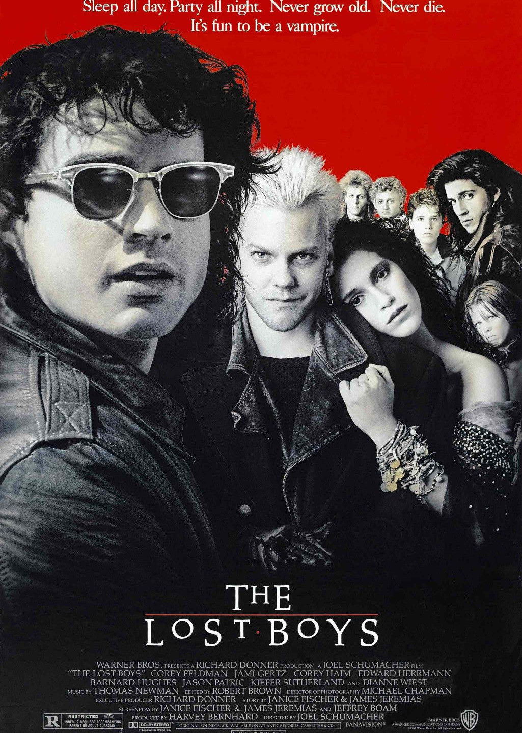 The THE LOST BOYS, Alvin showed he was equally gifted with using photography for making an artful poster design.