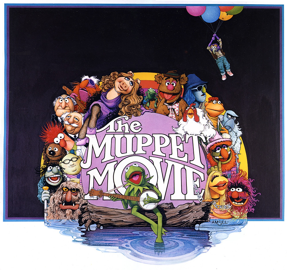 Richard Amsel's unused poster for THE MUPPET MOVIE (1979).