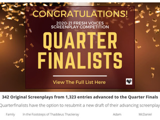 """In the Footsteps of Thaddeus Thackeray"" quarterfinalist, FRESH VOICES contest"