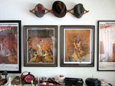 At long last...Amsel's RAIDERS prints are up on the wall.