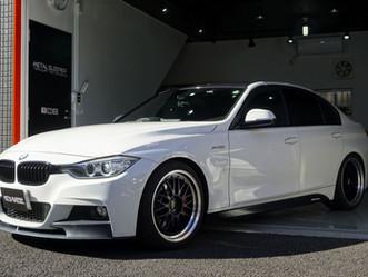 BMW3seriesSedanのルーフ、ルーフモール、ルーフアンテナにカーラッピング/神奈川県藤沢市K様