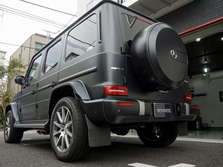 Mercedes-AMG G63のマットフルプロテクションフィルム施工②/フロントガラス飛び石保護フィルム施工/神奈川県川崎市K様#XPEL#STEALTH#エクスペル#ステルス#STEK#エステック
