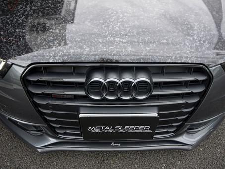 Audi A5のボンネット、サイドステップにカーラッピング/神奈川県茅ヶ崎市N様