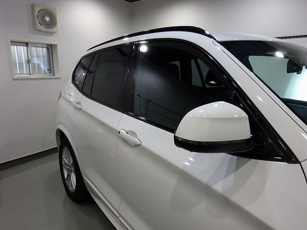 ウインドーモールラッピング BMW 格安 相模原 町田 プロテクション施工