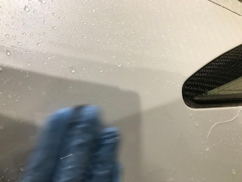 ラッピング施工前 洗浄画像