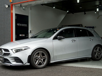 Mercedes-Benz The A-Classのウインドーモールにカーラッピング/#LUXE#ラックス/東京都八王子市N様