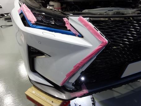 LEXUS RXの未塗装部分とグリル廻りにカーラッピング/神奈川県相模原市O様