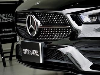 Mercedes-Benz The new CLA Coupeのフロントグリル・オーナメントにカーラッピング①/神奈川県横浜市S様