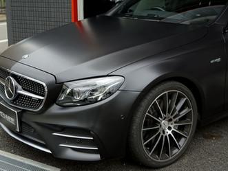 Mercedes-AMG E43のマットフルプロテクションフィルム施工①/東京都世田谷区E様#XPEL#STEALTH#エクスペル#ステルス
