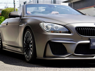 BMW6seriesCabrioletのマットフルラッピング②/東京都八王子市U様