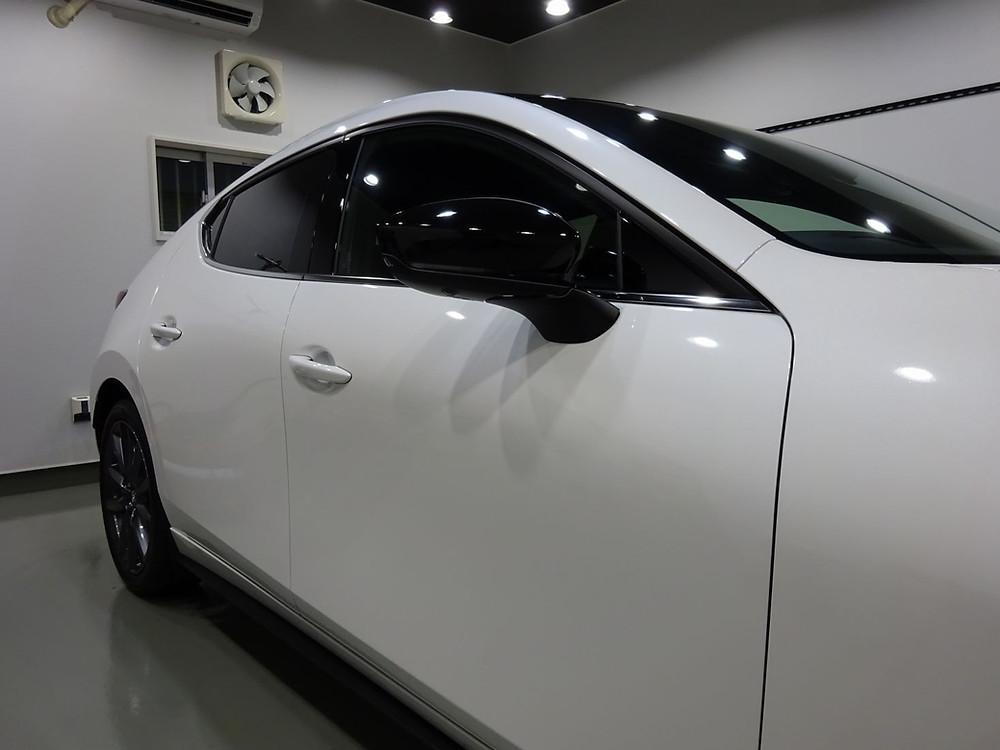 MAZDA3 ドアミラーラッピング カーラッピング専門店 丁寧 格安 相模原 町田 プロテクション