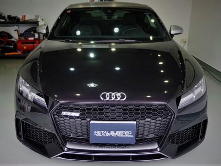Audi TT RS Coupe'のフロントグリルにカーラッピング/神奈川県相模原市A様