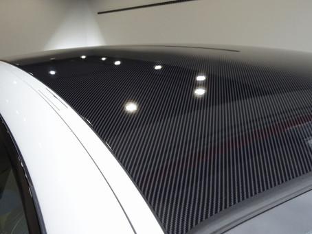 BMW 120クーペのルーフとドアミラーにカーラッピング①/相模原市K様