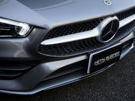 Mercedes-Benz The CLA Coupe'のウインドウモール、リップスポイラー、リヤバンパーモールにカーラッピング/東京都八王子市K様