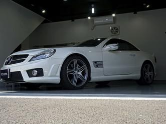 Mercedes-Benz-AMG SL63のルーフにカーラッピング、プロテクションフィルム施工①/東京都八王子市S様