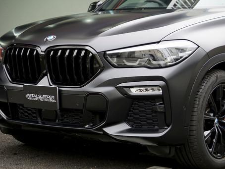 BMW X6 xDrive35d M Sportのマットフルプロテクションフィルム施工①/神奈川県藤沢市T様#XPEL#STEALTH#エクスペル#ステルス