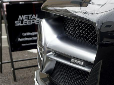 Mercedes-AMG CLA 45のウインドーモールにカーラッピング/神奈川県相模原市B様