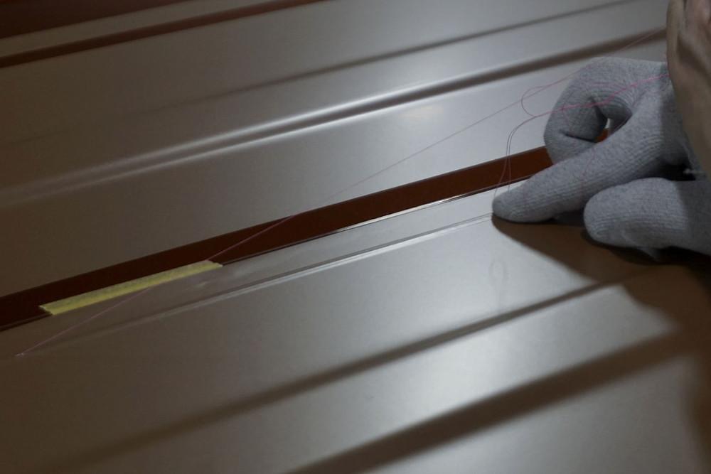 ナイフレステープを使用 安全安心な作業 カーラッピング専門店 プロテクションフィルムPPF施工
