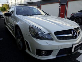 Mercedes-Benz-AMG SL63のルーフにプロテクションフィルム施工、リップスポイラー、ドアミラー、リアスポイラー、リヤデュフューザーにカーラッピング②/東京都八王子市S様