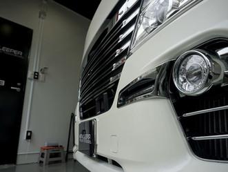 NISSAN NV350 CARAVANのボンネット、コーナーパネル、ドアエッジにプロテクションフィルム施工/神奈川県横浜市K様
