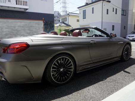 BMW6seriesCabrioletのマットフルラッピング①/東京都八王子U様