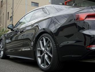 Audi A5 Coupéのウインドーモールにカーラッピング/神奈川県相模原市A様