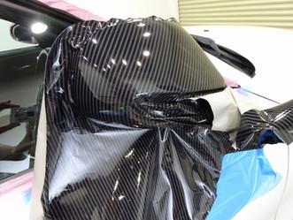 BMW 120クーペのルーフとドアミラーにカーラッピング②/相模原市K様