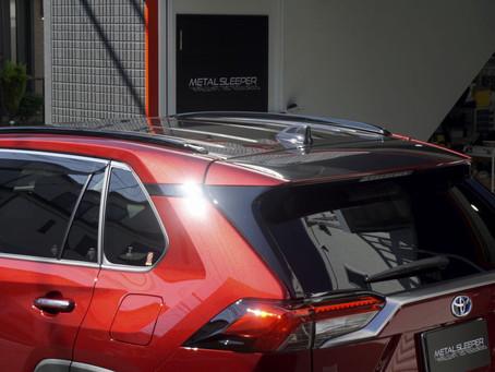 TOYOTA RAV4のヘッドライト、ボンネット、ルーフ、リヤウイングにプロテクションフィルムPPF施工①/神奈川県相模原市Y様#XPEL#STEKダイノブラックカーボン