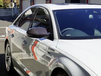 Audi S8のヘッドライト、テールレンズ、フロントバンパーにプロテクションフィルム施工、各種パーツにカーボン調カーラッピング②/神奈川県綾瀬市N様