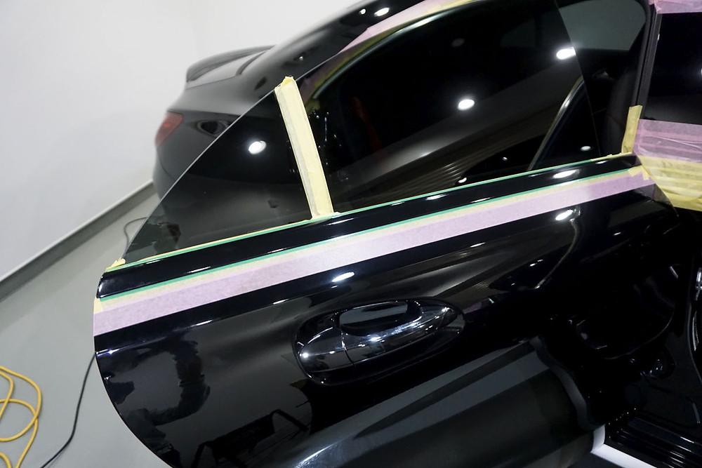 AMG ウインドーモールラッピング カーラッピング専門店 相模原 町田 プロテクションフィルム施工 AMG