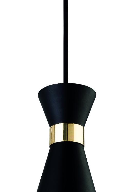 Black with Brass Pendant Light