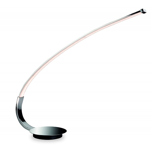 LED Curved Chrome Table Lamp