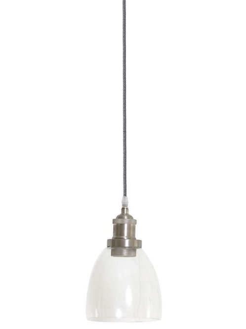 Glass and Satin Nickel Pendant Light