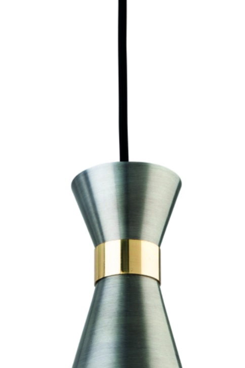 Antique Silver with Brass Pendant Light