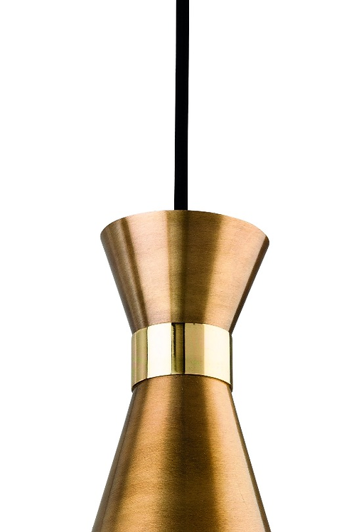 Antique Gold with Brass Pendant Light