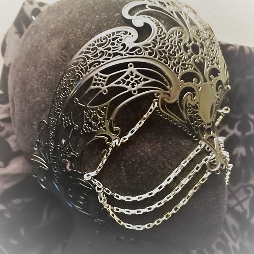 Coroncina Mask/Headpiece with Chains No crystals