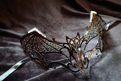Mask BAT with white Swarovski crystals