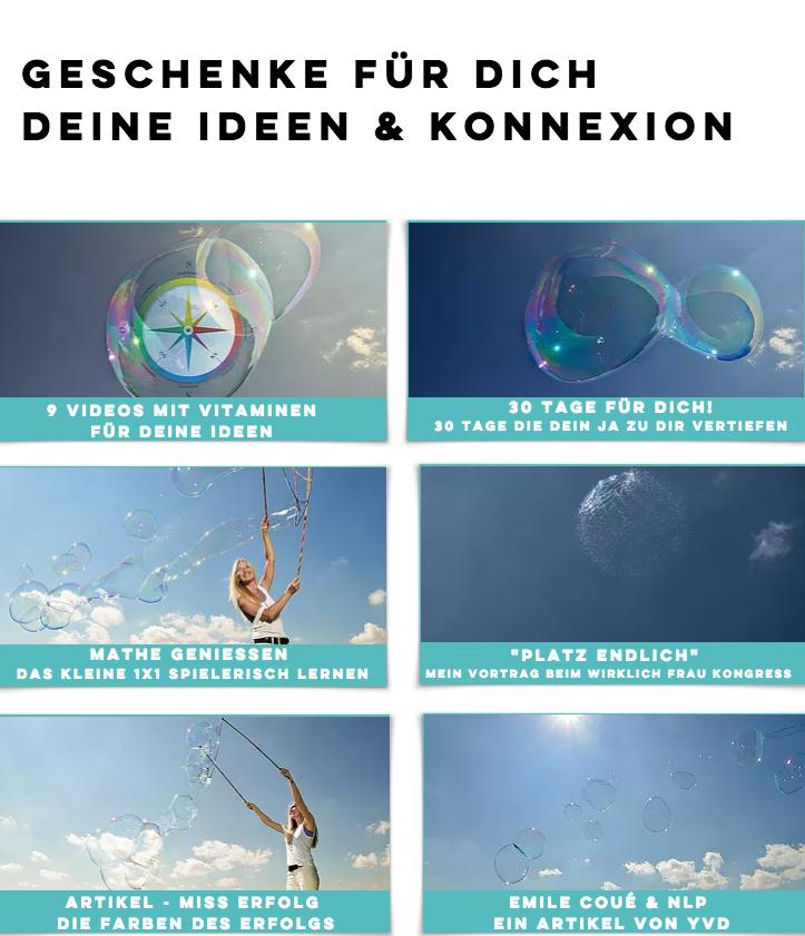 Geschenke von yvonne van Dyck Konnexion, Ideen, IdeRealistin
