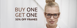 Buy one get one 50% off frames