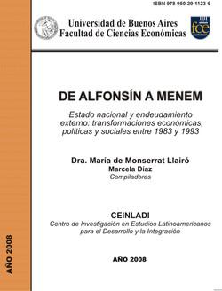 De Alfonsín a Menem