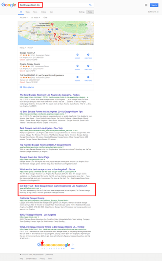 Google 1st Page Ranking Proof